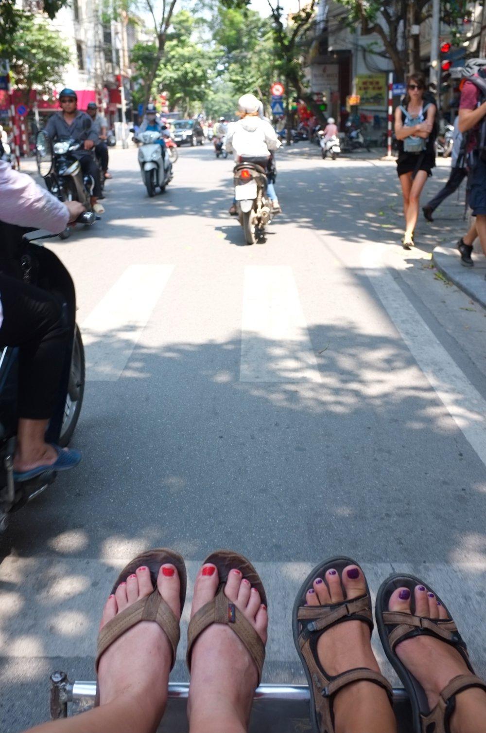 Getting a bike taxi