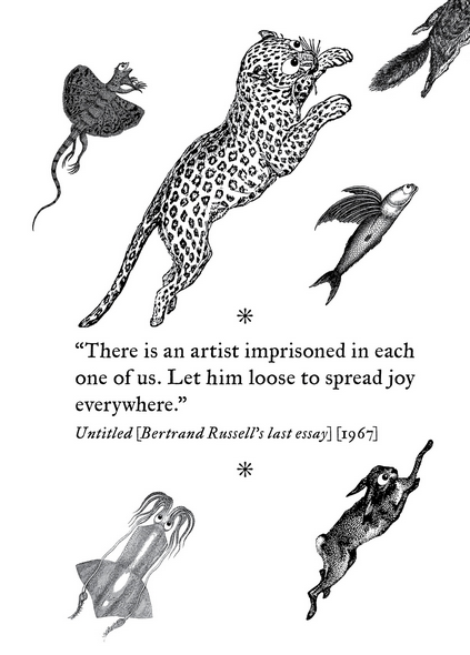 Illustrations by Trevor Greive. Thinking by Bertrand Russel.