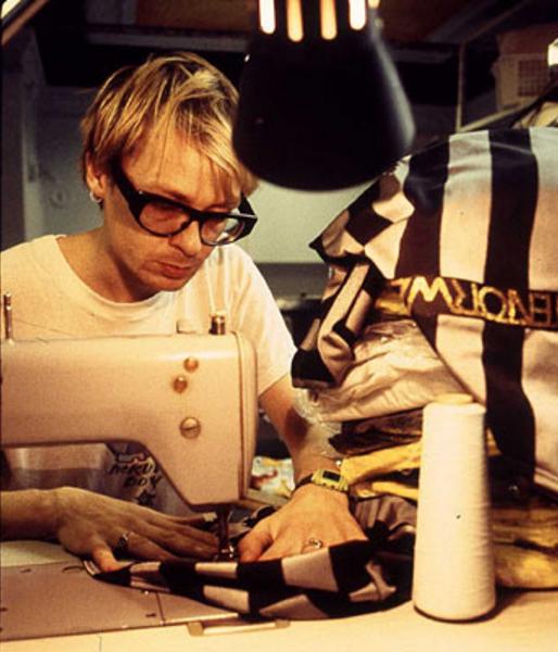 Jack of all trades: Jimi working on his fashion range Tenor Wear in 1996. (Pic: www.sahkorecordings.com)