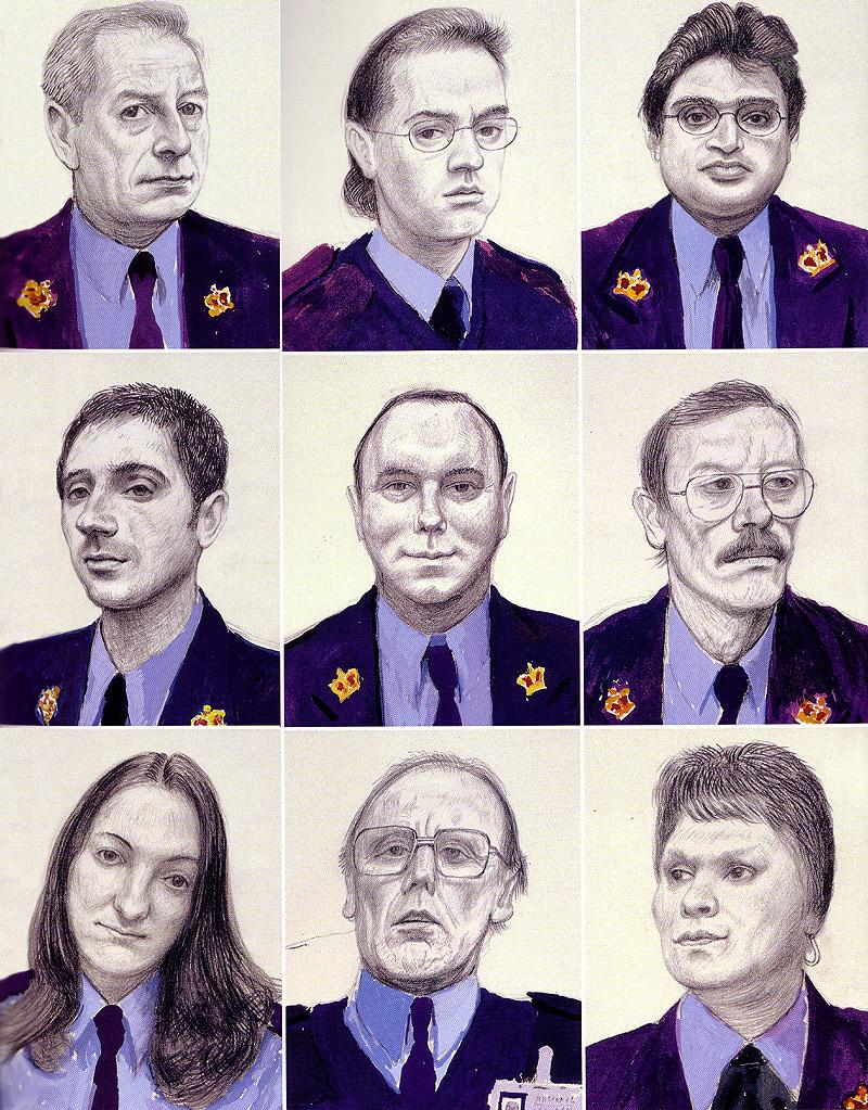 Twelve Portraits after Ingres, 2000