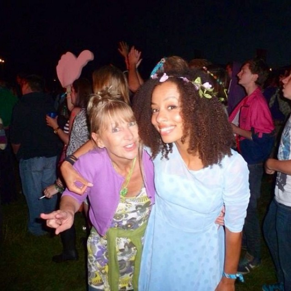 Mooms dancing at a festival