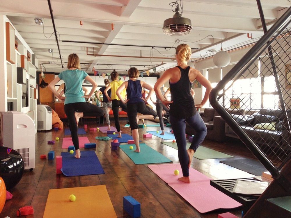 Having a ball:Movement fun in the heart of Brighton where we stretched, slept and ate.
