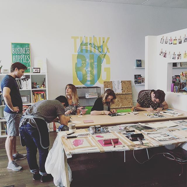 From a Screen printing workshop in the Happy Startup School Space.