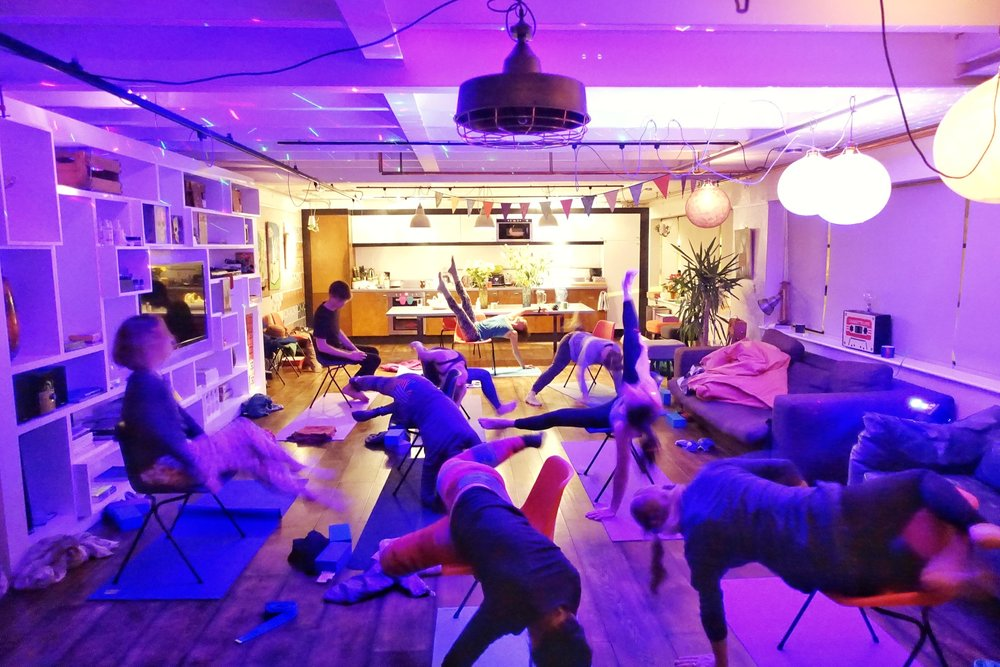 Chair yoga explorations from our Brighton New Year Retreat 2017.
