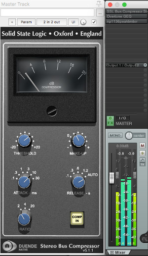SSL Bus Compressor mastering