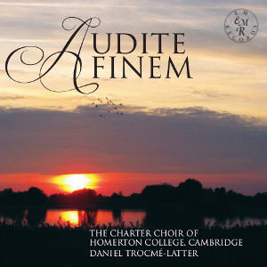 The Charter Choir -  Audite Finem  (EM Records, 2014)  Produced and engineered by Myles Eastwood  Recorded in Selwyn College Chapel, Cambridge