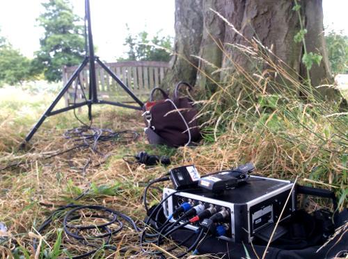 Tascam Recorder Radio Mics Glyndebourne Garden
