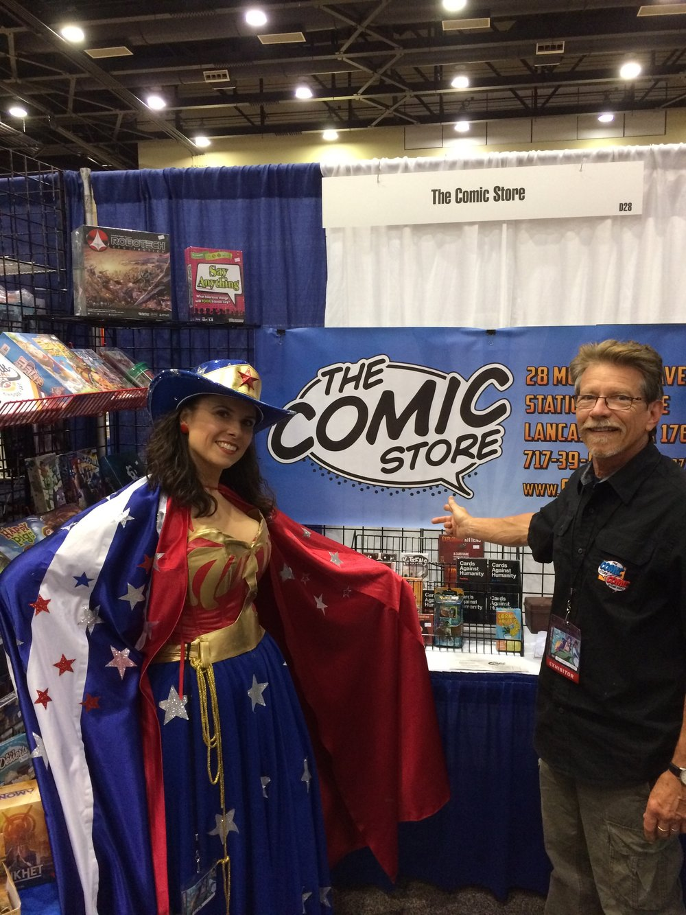 Joe with Steampunk Wonder Woman at Zenkaikon 2017