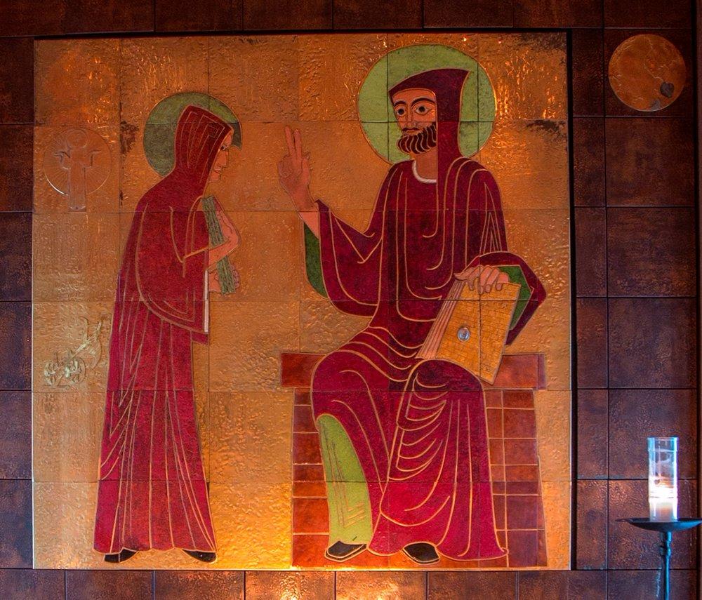 St. Benedict Enamel in Monastery Chapel
