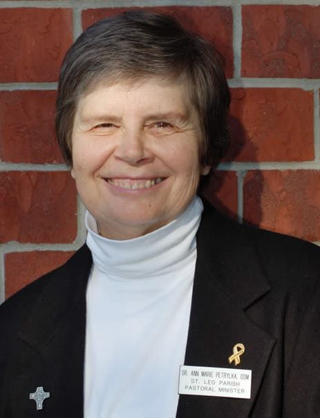 Sister Ann Marie Petrylka, OSM, M.A. , is a pastoral minister at St. Leo's Parish in Omaha.