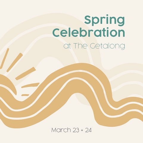 Make sure you stop by @thegetalong this weekend to enjoy lots of cool perks including 25% off all Twigs and Roots products! #happyspring