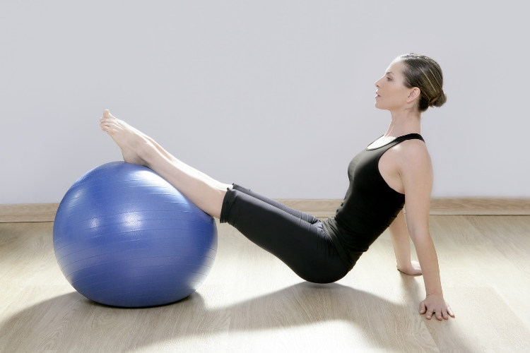 Yoga Ball in Movement Studio
