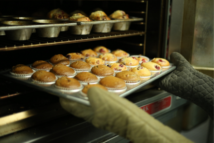 Food Business baking muffins