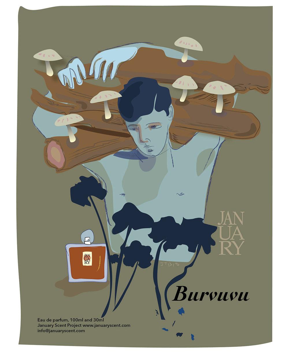 Burvuvu Retro Ad Poster