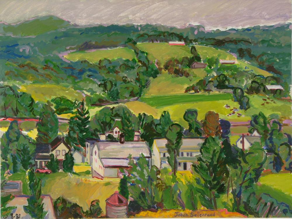 """Lexington Overview '81 26x35"""" ac/c"""
