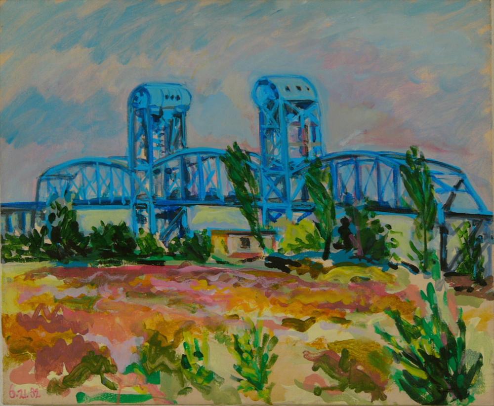 """Blue Bridge '82 20x24"""" ac/c"""