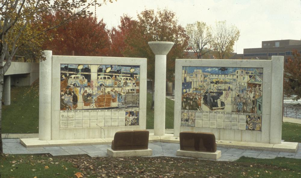 Murals A & B - 8' x 12' ceramic tile each.