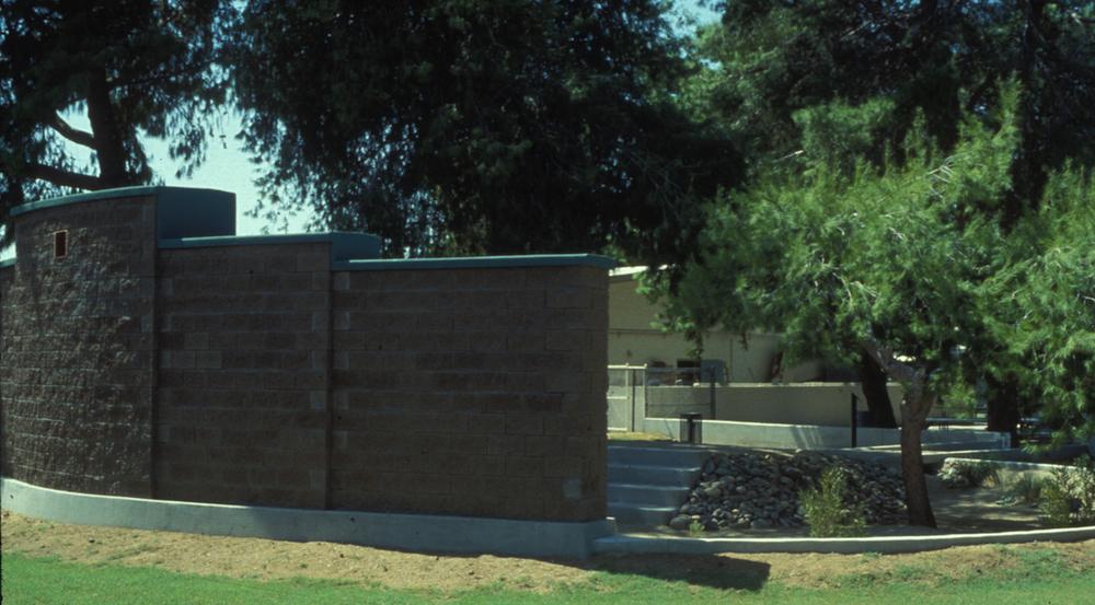 PHX. Street view 12x33' mural wall& island