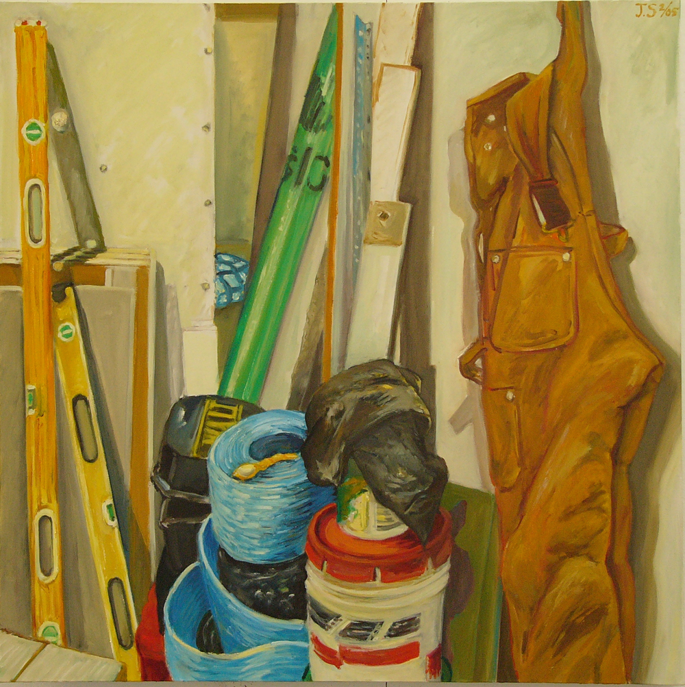 "Billy's Stuff '05  48x48""  oil/c"