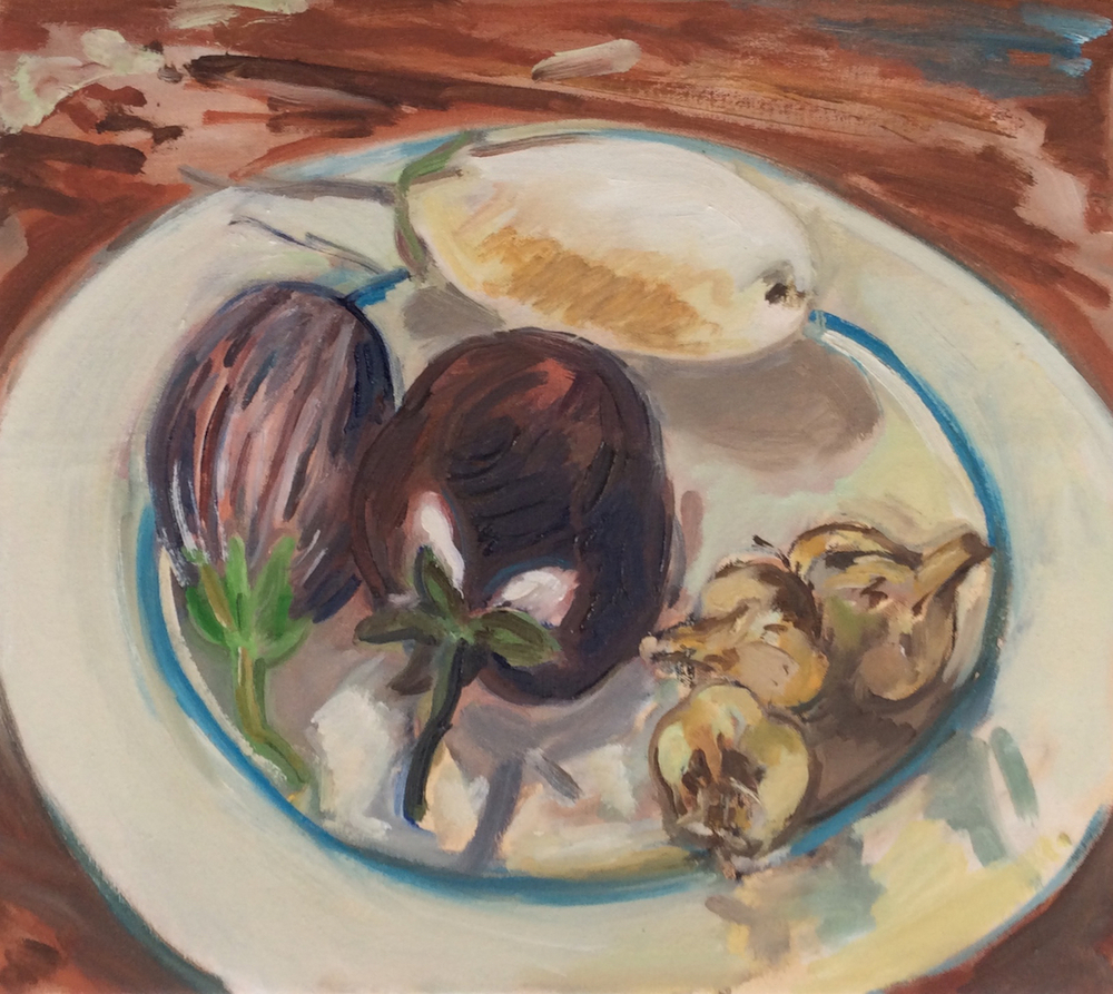 "Eggplant '13  16x18""  o/c"