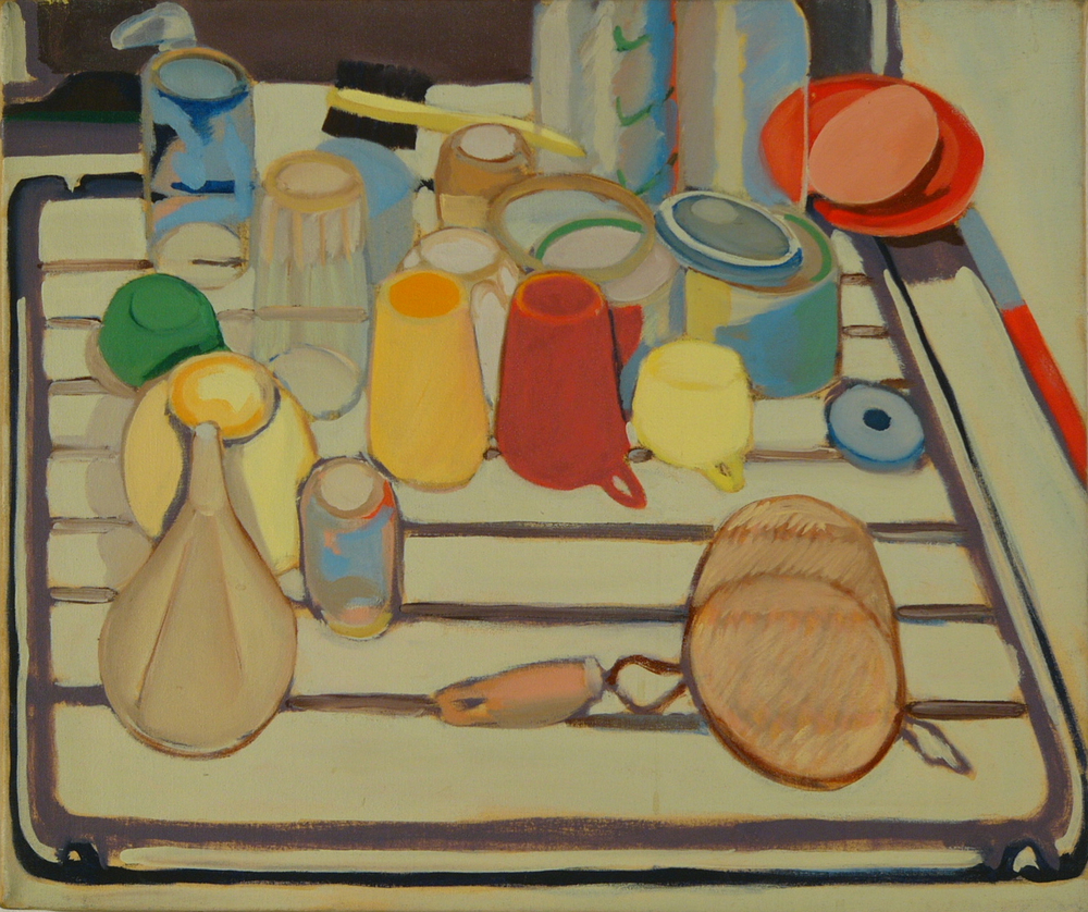 "NYC. Drying Dishes '66 20x24"" o/c"