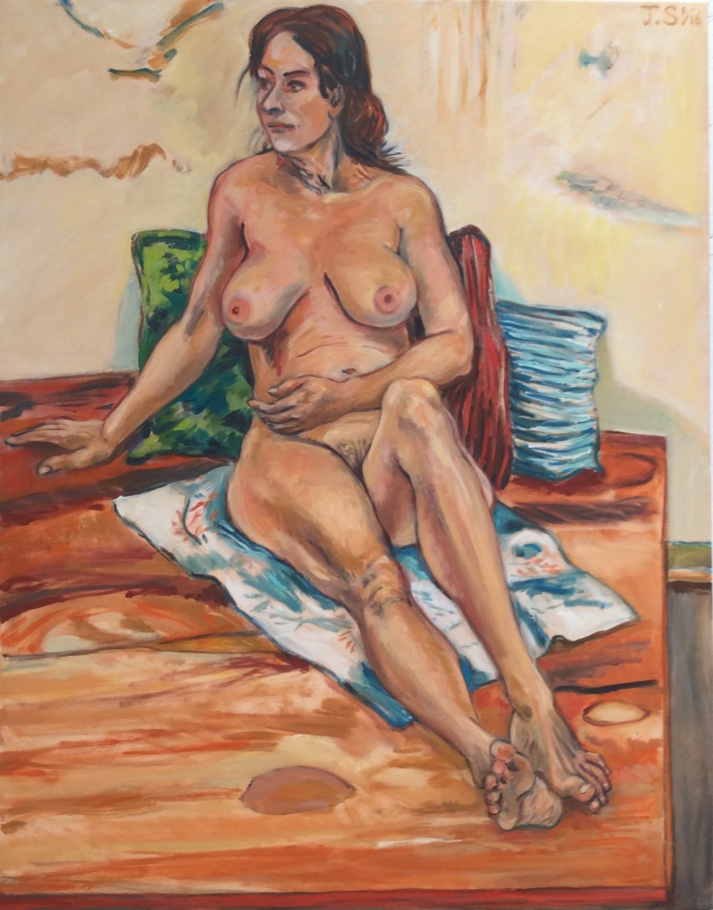 "C.  On the Beach""  '16  54x42""  o/c"