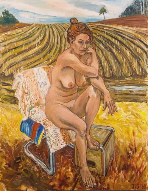 "C.  In Corn Field, 12/16   54x42"" o/c."