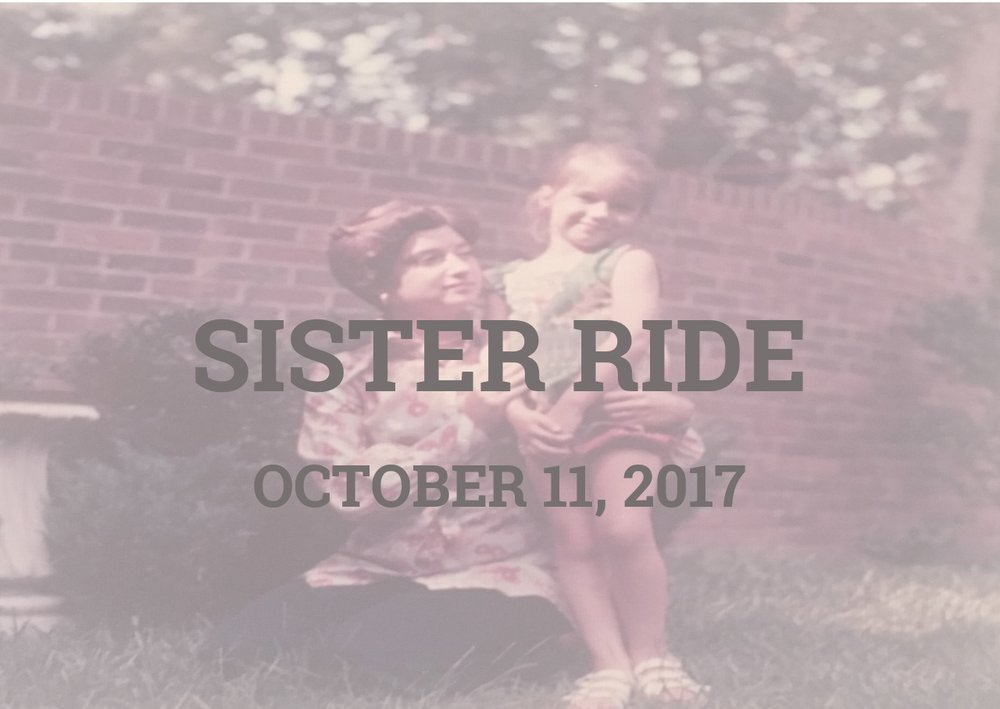 We had a great time on our SISTER RIDE!  Let us know if you'd like us to plan another one.  Photos on Facebook.