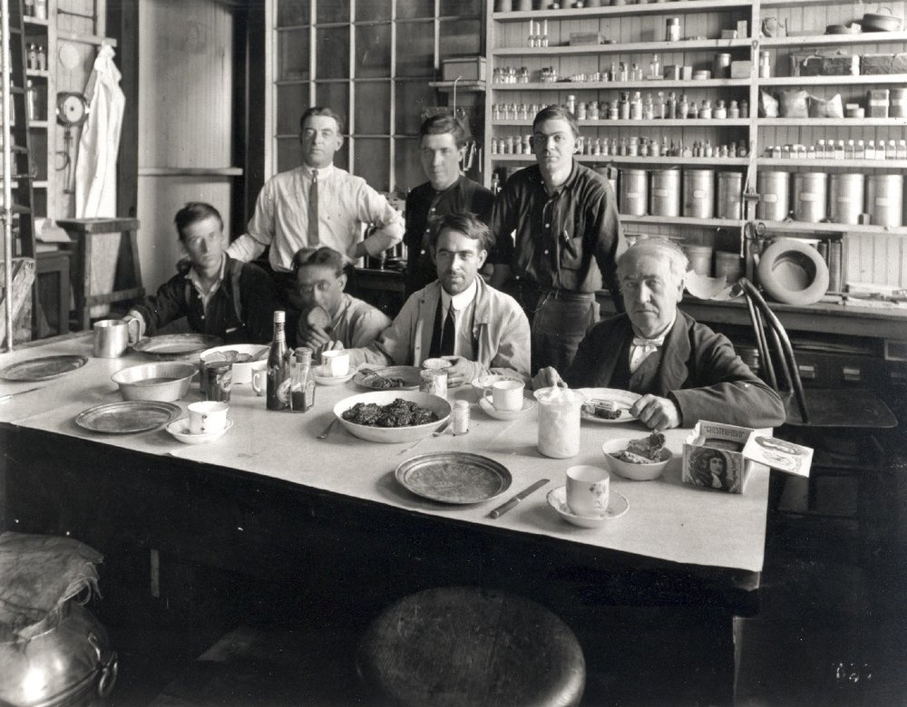 Thomas Edison and his staff-courtesy of the U.S. Department of the Interior