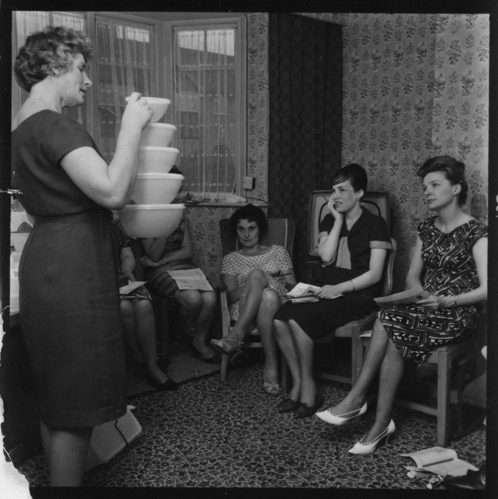 Tupperware ladies in the 1950's