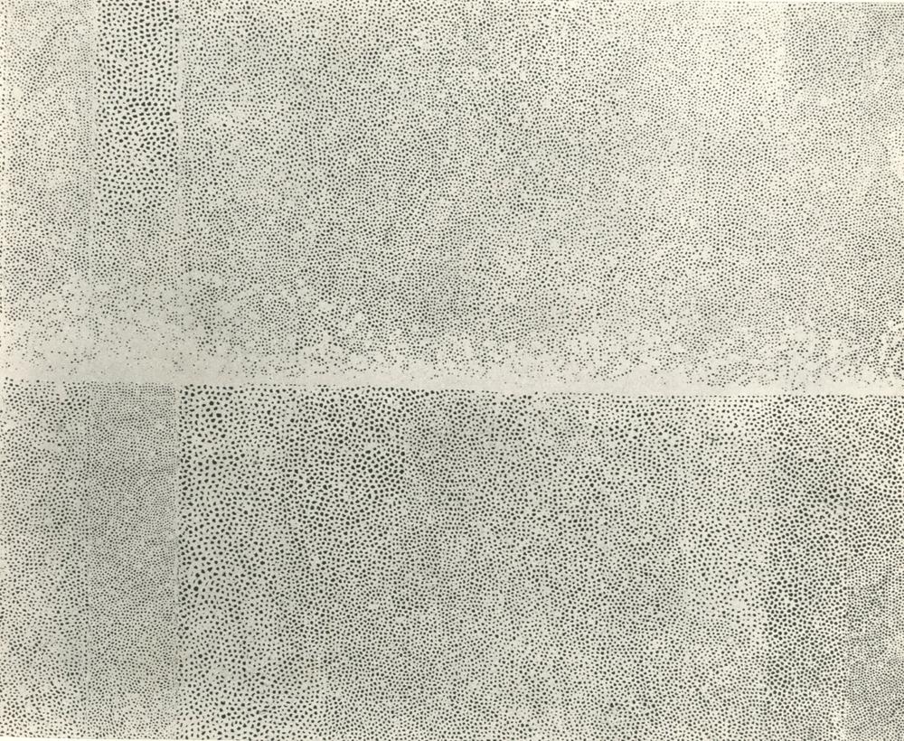 senkenbutai :     草間 彌生 Yayoi Kusama    untitled and now lost infinity net   mid-50's