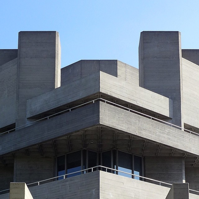 theimportanceofbeingmodernist :      National Theatre, London by Denys Lasdun.    © 2015 Alex James Bruce     The Importance of Being Modernist :  Facebook  |  Twitter  |  Instagram