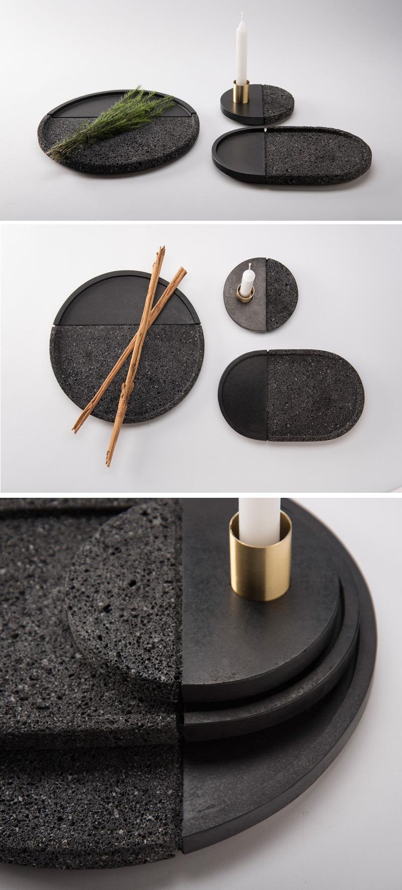 contemporist :    This Set Of Plates Are Made From Volcanic Stone - via contemporist.com