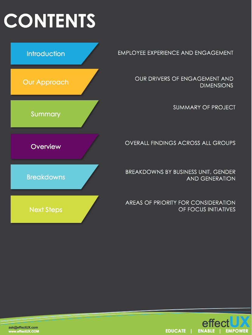 Employee Engagement Assessment Example Report