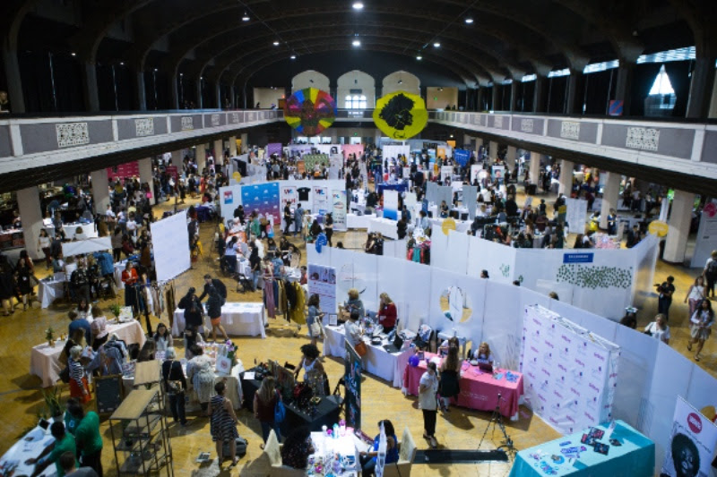 The Center at USoW:  Produced by equallet.  A buzzing hive of women owned businesses, connection, and empowerment.