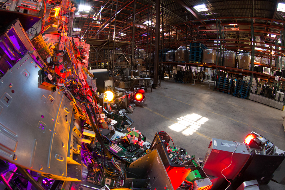 2015-02-20 DIGITAL BEING - FAN Being at GOWANUS E-WASTE WAREHOUSE-1.JPG