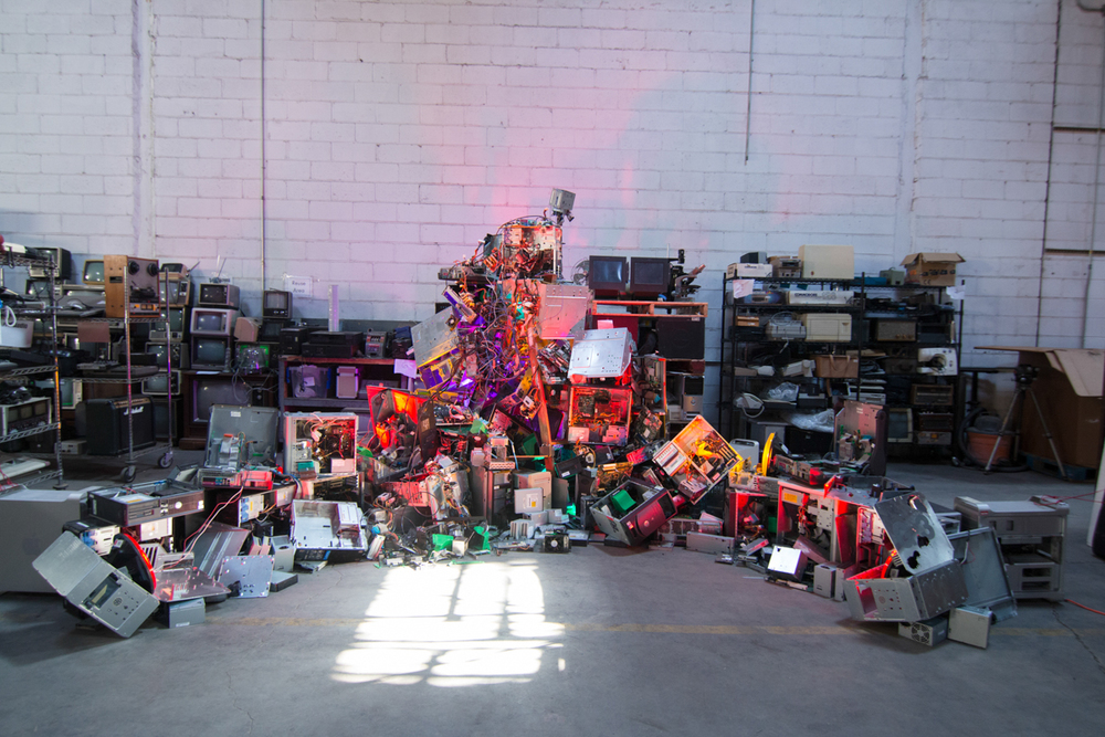 2015-02-20 DIGITAL BEING - FAN Being at GOWANUS E-WASTE WAREHOUSE-4.JPG