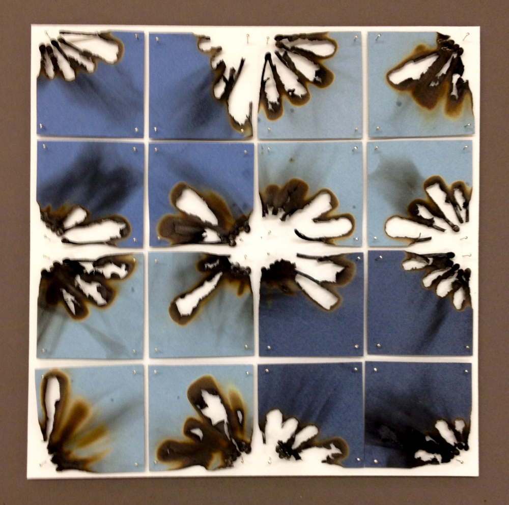 Burn Quilt (Blue Square)