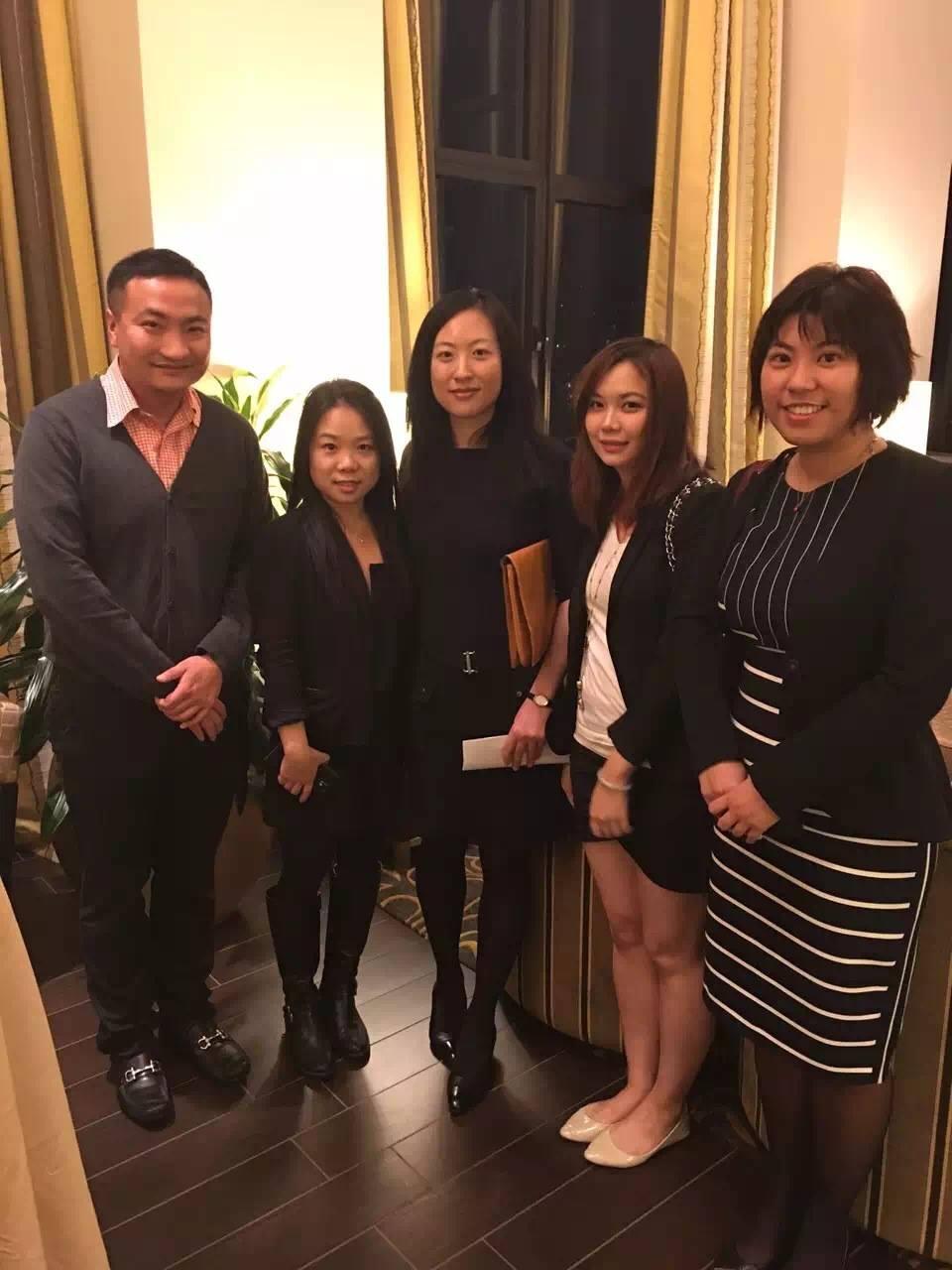 Jason Song (L&L Travel- Director of Production, tickets dept.), Katie Yu (L&L Travel - Marketing Director), Lian Liu (NYC & Company -Director, Tourism Development), Mina Su (UAP Media-Advertising director), Sasha Chou (UAP Media-Director of sales and marketing)