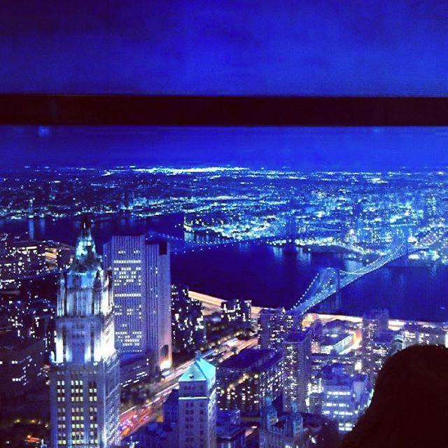 Views on elevator to 104 floor.