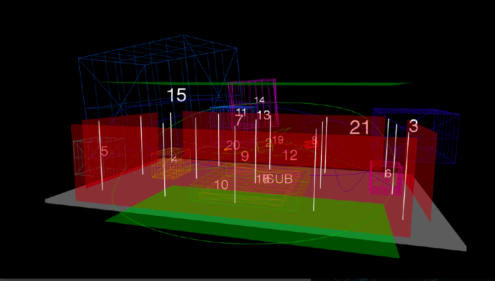 Ondrej Mikula's spatial mix visualised with the 4D.animator software