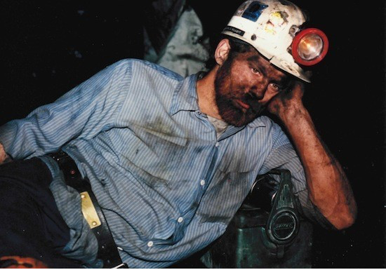 Scott Howard during an underground mine shift, circa 1991. Scott is now retired and struggling with black lung disease in Letcher County, KY.