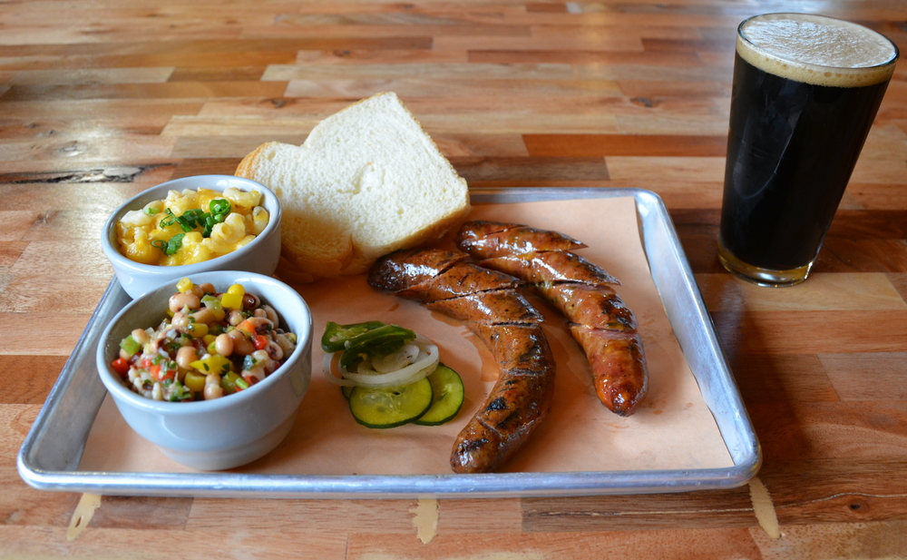 Sausage Plate with Smoked Polish Kielbasa and Smoked Jalapeño Cheddar Bratwurst