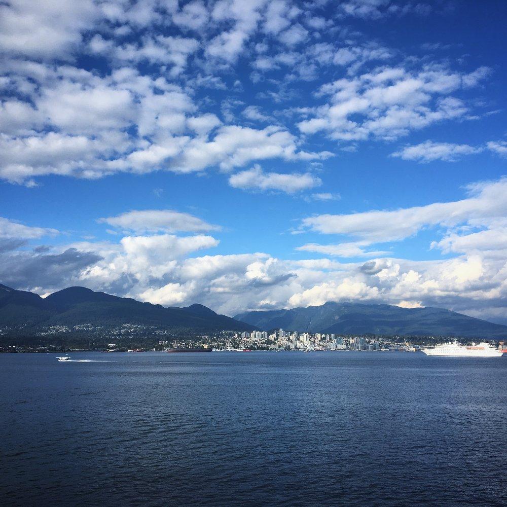 The view of North Vancouver from the Pan Pacific Hotel.