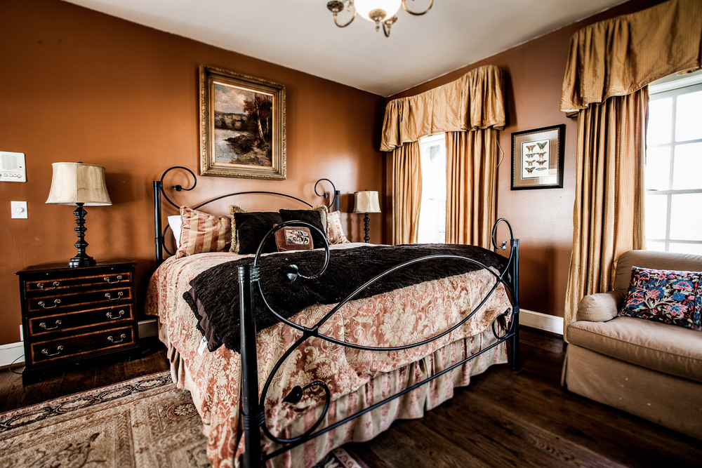 One of the many beautiful suites inside the estate.
