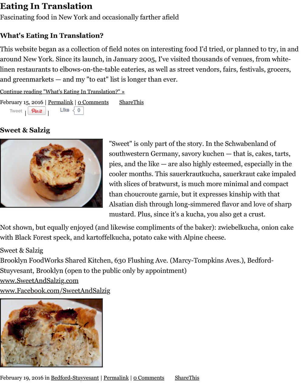 Eating in Translation Article