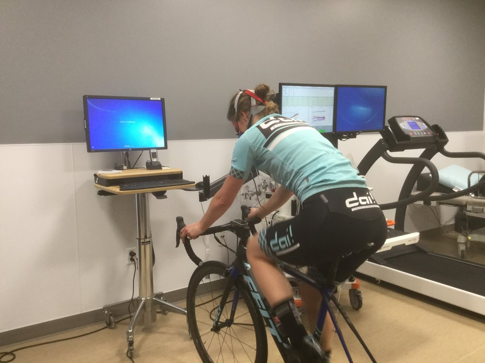 Testing with Julie of Dai Endurance at the Kaiser Endurance Lab in Sacramento