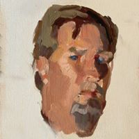 ray roberts, painter, self protrait