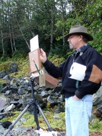 matt smith painting outdoors, plein air, wet canvas, landscape, nature