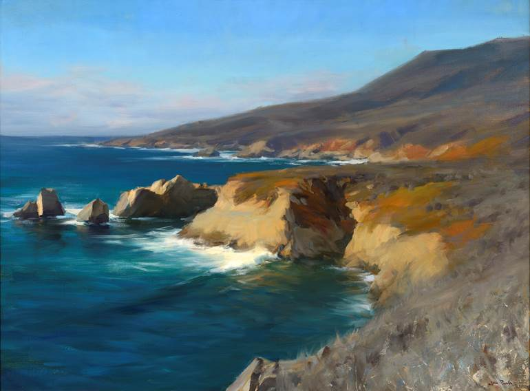 Garrapata State Park, painting, jesse powell, oil painting